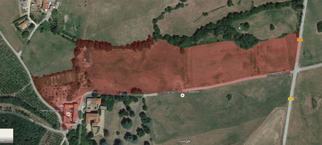 Vue satellite de la ferme de Corsas