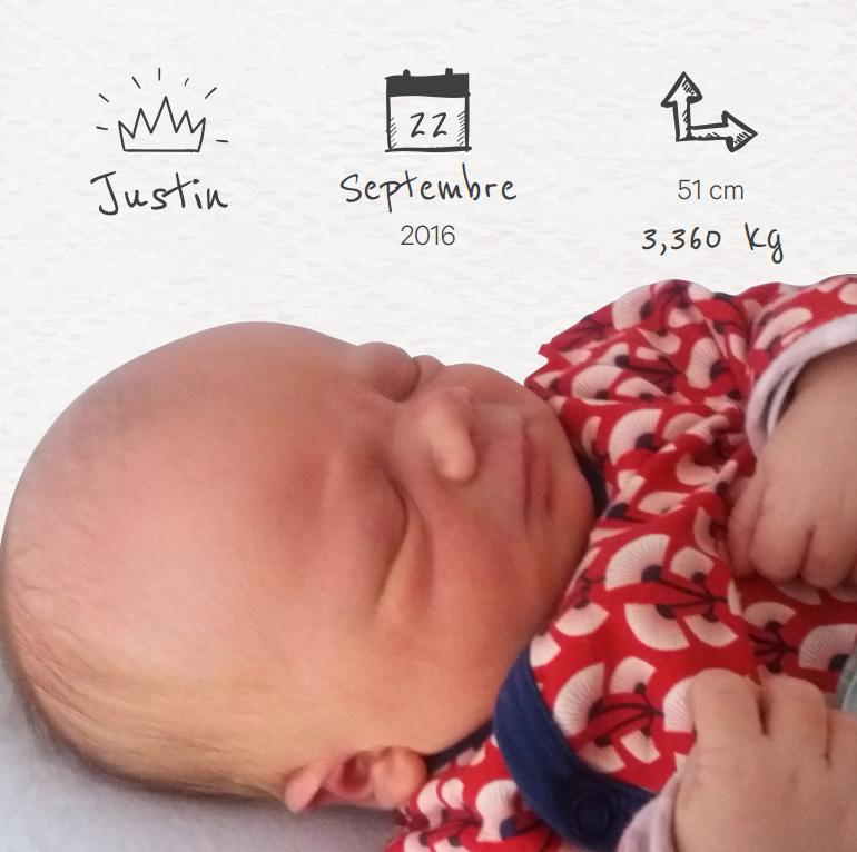 Justin - Faire Part
